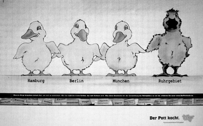 Werbung Dr Pott kocht Enten im Vergleich zu Berlin und Hamburg